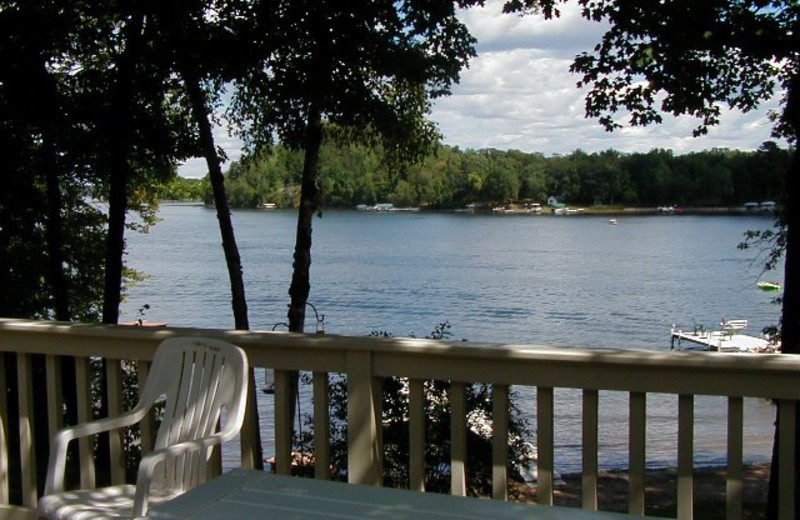Cabin porch view at SweetWater Resort.