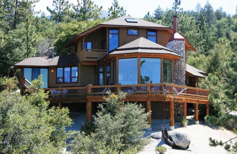 Cabin exterior at Idyllwild Vacation Cabins.