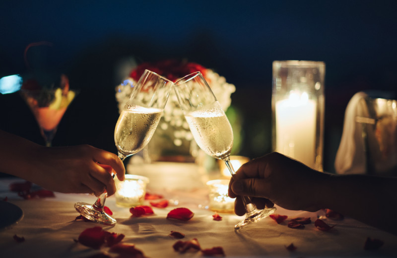 Romantic dinner at Pinnacle Inn Resort.
