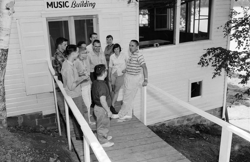 Historic photo at Hanging Horn Lakeside Resort.