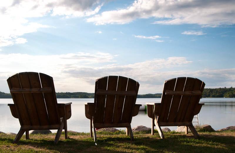 Chairs at Campfire Bay Resort.