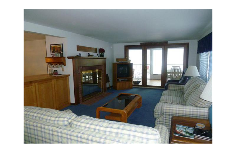 Rental living room At the Lakes Vacation Rentals.