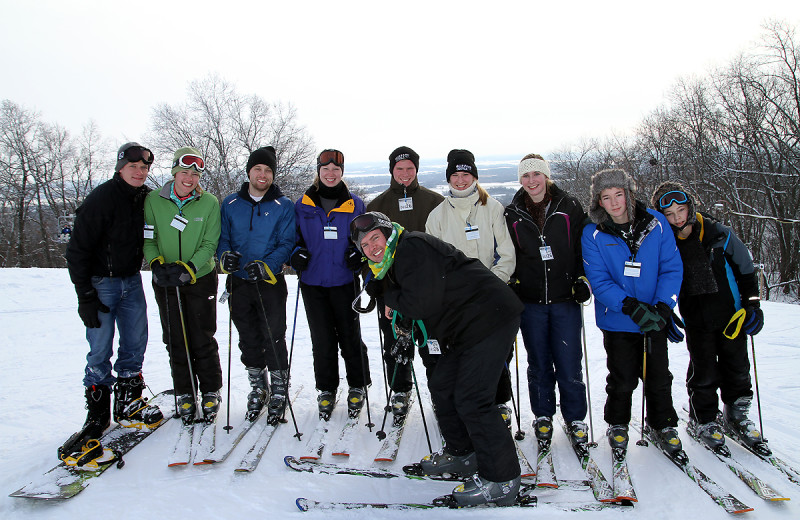 Ski group at Devils Head Resort & Convention Center.