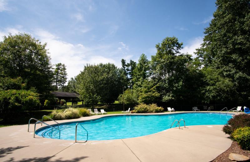 Outdoor pool at Highland Lake Inn.