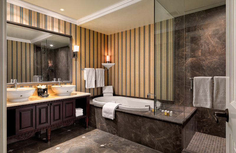 Guest bathroom at Oak Bay Beach Hotel.
