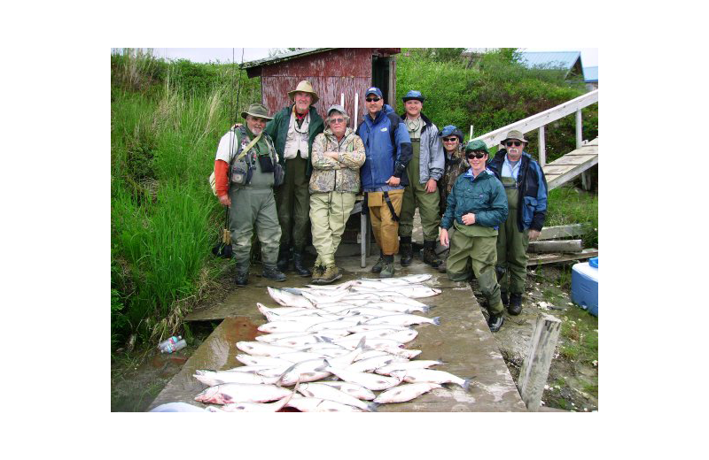Fishing at Naknek River Camp.