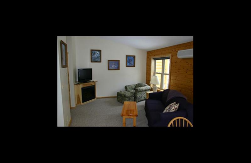 Suite living room at Red Pines Resort & Suites.