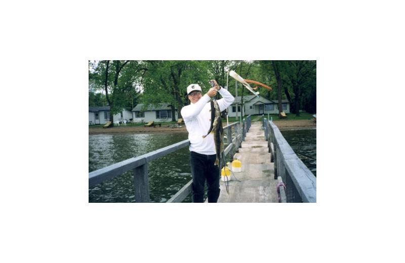 Fishing at Regnbue Haven Resort.