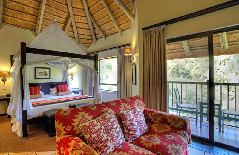 Guest room at The Cavern Drakensberg Resort.
