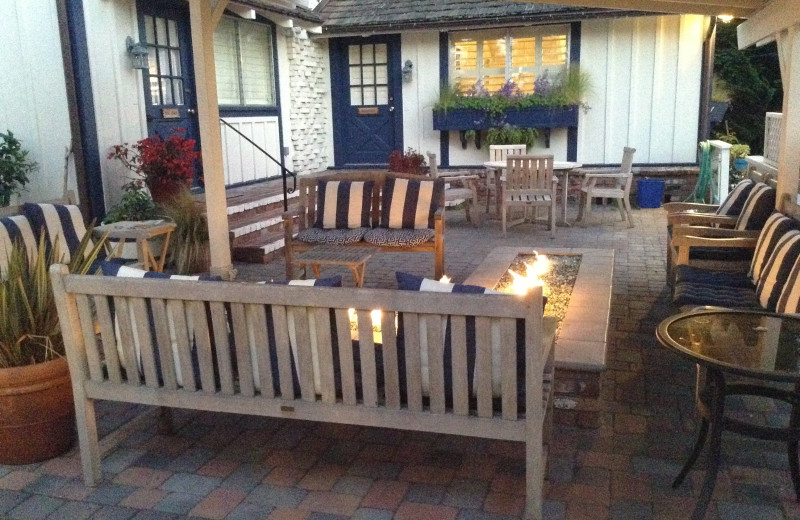 Patio at Lamp Lighter Inn & Sunset House Suites.