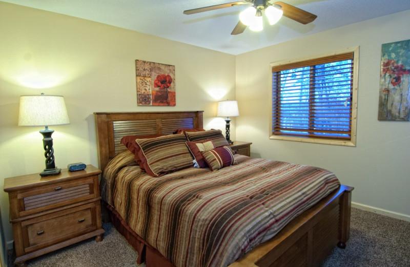 Villa bedroom at Wilderness Resort Villas.