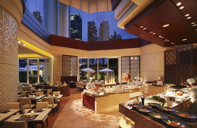 Restaurant at Conrad Hong Kong.