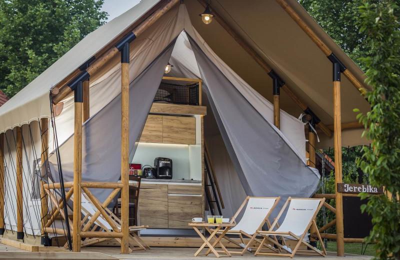 Tent exterior at Glamping Olimia Adria Village.
