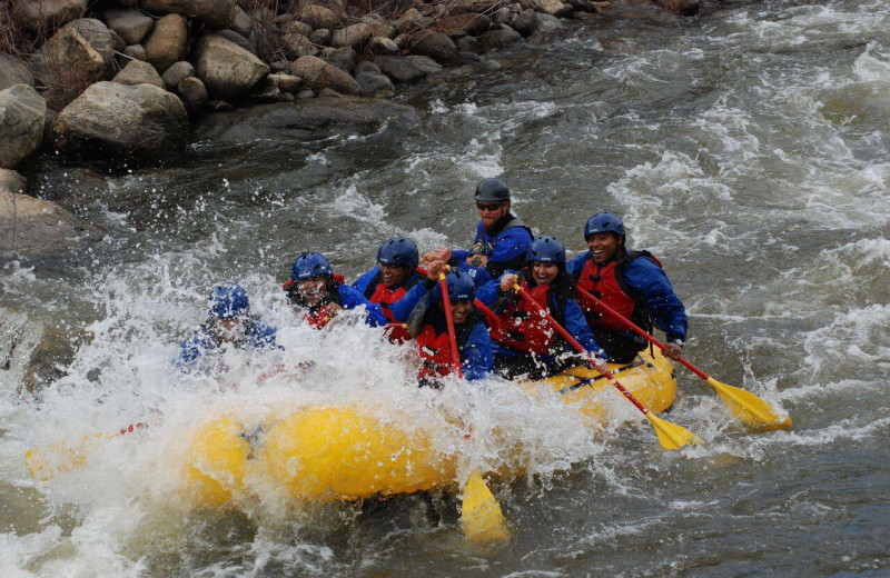 River rafting at Aspen Square Condominium Hotel.