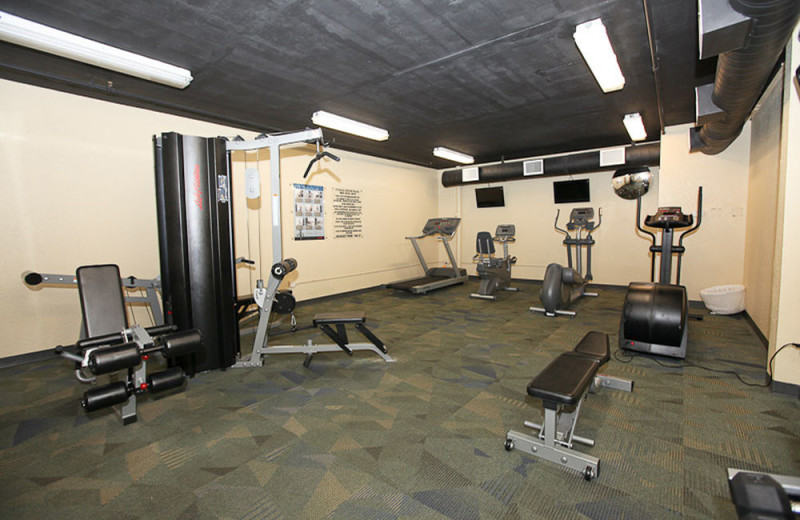 Fitness room at Sterling Shores.