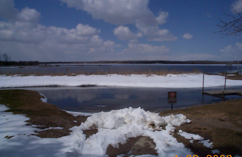 Lake view at Hide Out Resort.