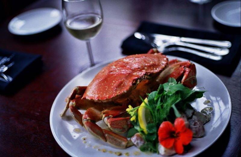 Fresh seafood at Middle Beach Lodge.