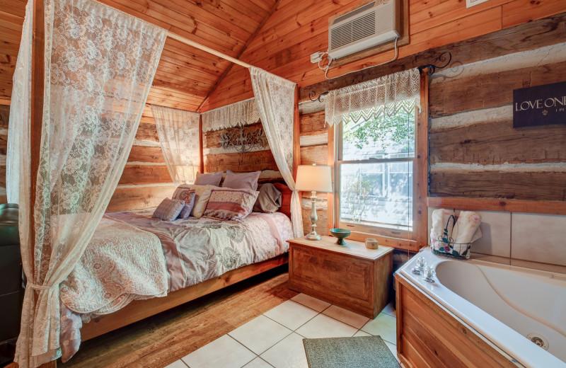 Cabin interior at Caroline's Country Cabins.