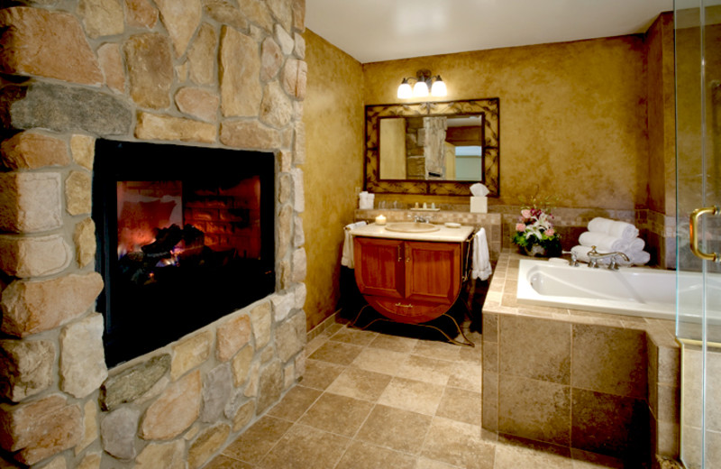 Guest bathroom at Crystal Springs Resort.