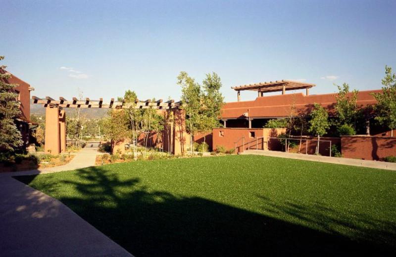 Courtyard at The Lodge at Santa Fe.