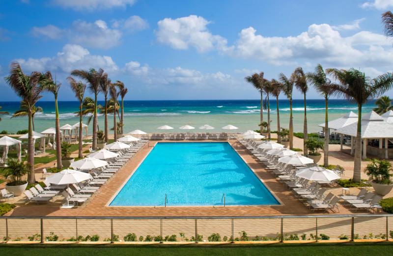 Outdoor pool at Hilton Rose Hall Resort & Spa.