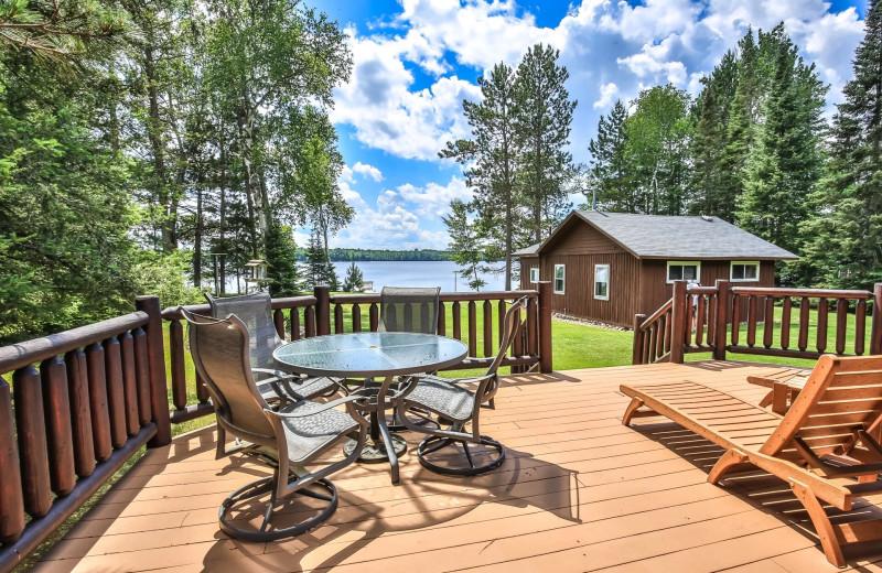Rental deck at Hiller Vacation Homes.
