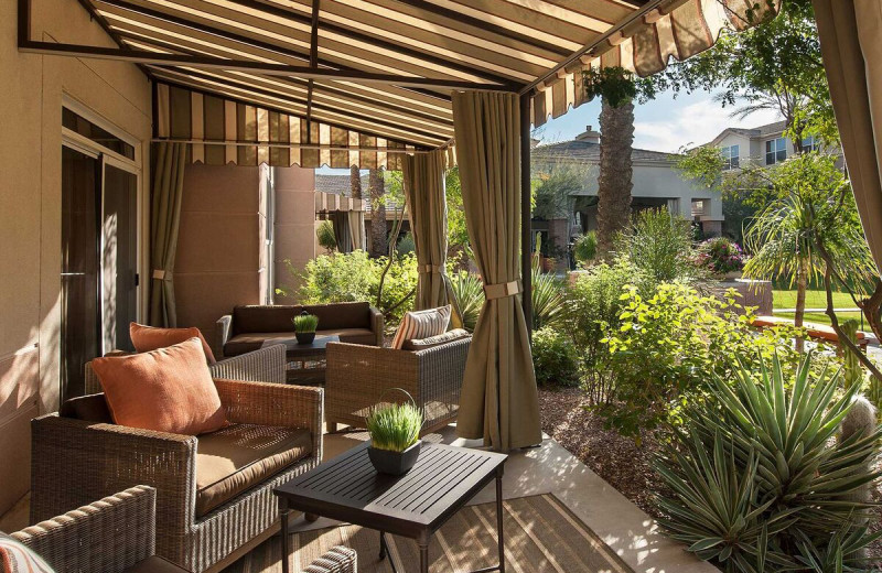 Guest patio at Gainey Suites Hotel.