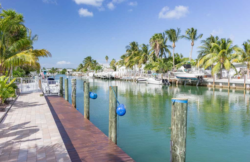 Rental dock at Florida Keys Vacation Rentals.