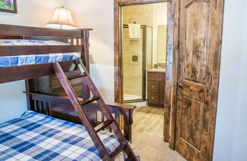 Rental bunk beds at Fall River Village Resort Condos.