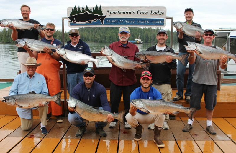 Fishing group at portsman's Cove Lodge.