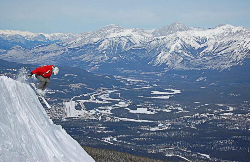 Skiing near Bear Hill Lodge.
