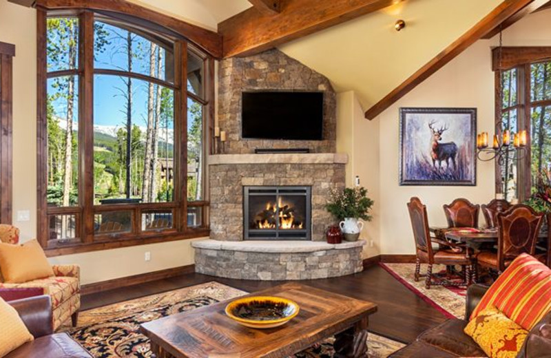 Guest living room at Breckenridge Lodging Center.