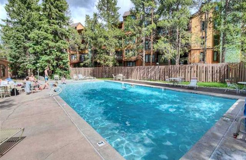 Outdoor pool at Alpine Meadows Management.