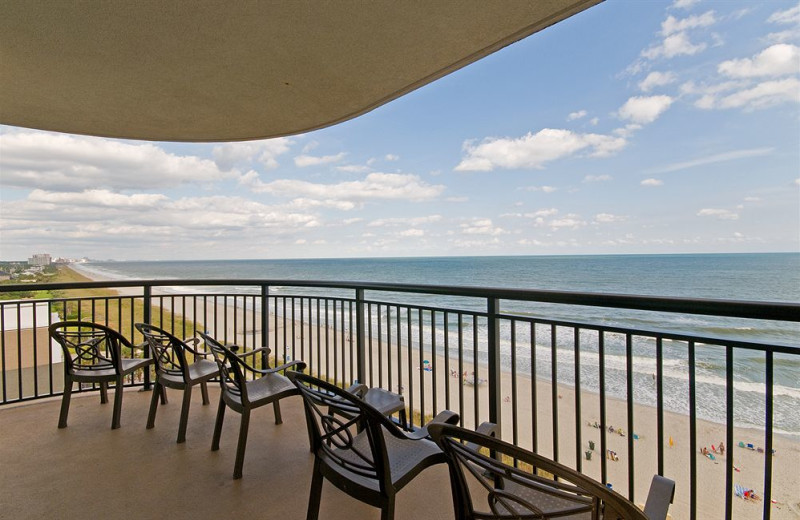 Balcony view at Caribbean Resort & Villas.