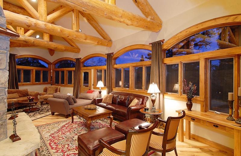Vacation rental living room at Paragon Lodging.
