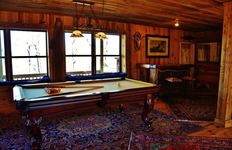 Billiard table at Singletree Gun & Plough.