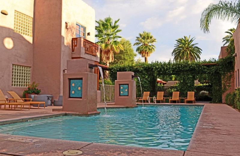 Outdoor pool at Lodge on the Desert.