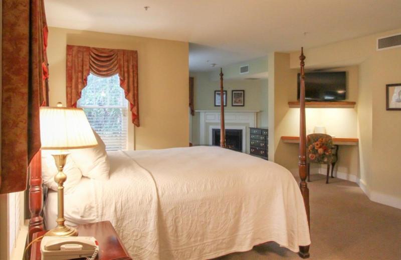 Guest room at Joseph Ambler Inn.