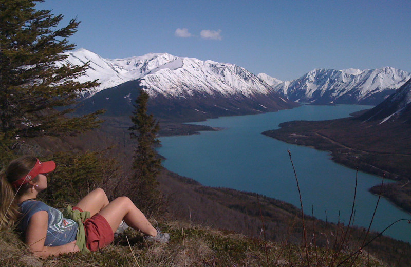 Hiking at Alaska Heavenly Lodge.