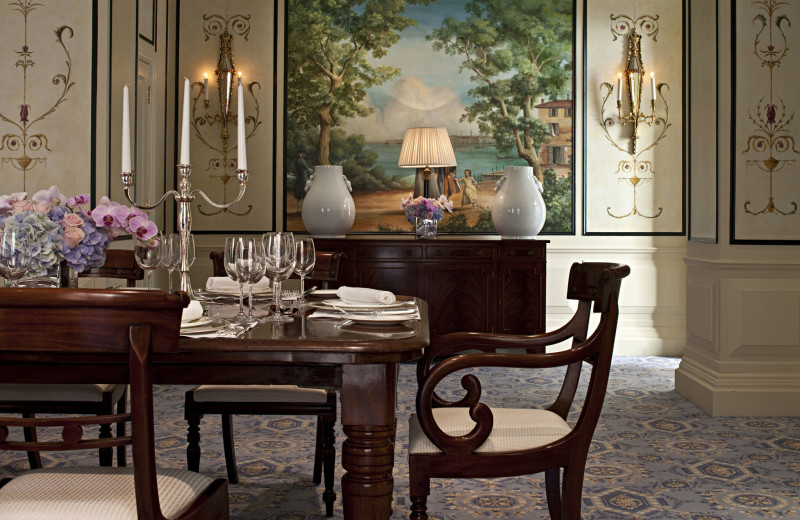 Dining at The Savoy, A Fairmont Hotel.