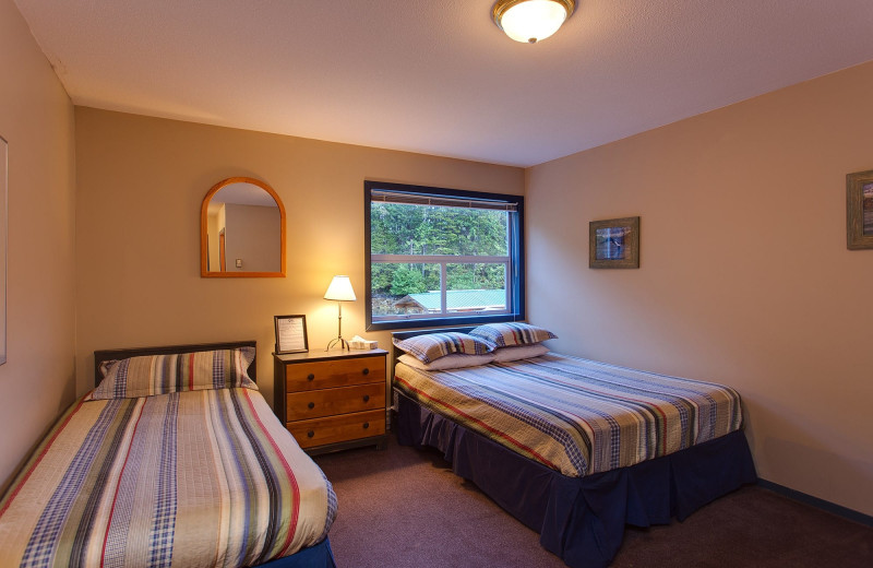 Guest room at Nootka Wilderness Lodge.