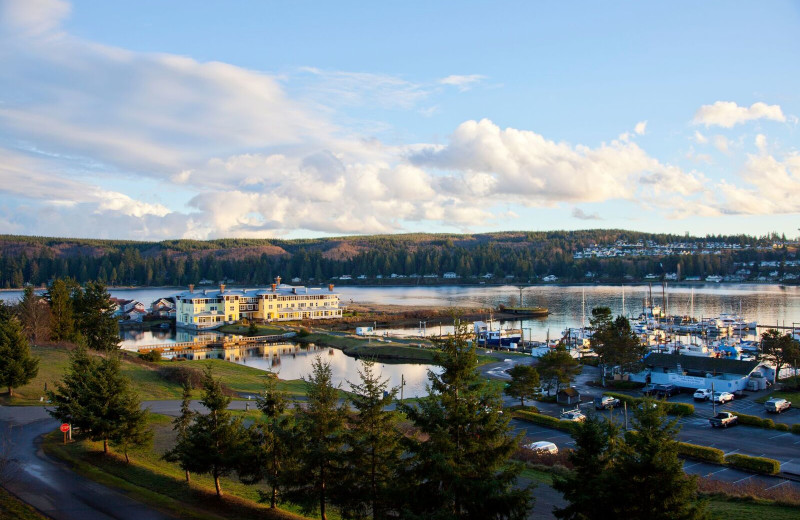 Aerial view of The Resort At Port Ludlow.