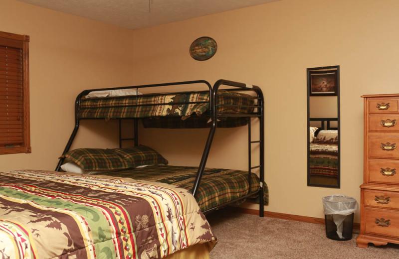Guest bedroom at Granite Springs Lodge.