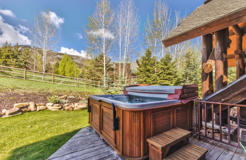 Rental hot tub at Park City Rental Properties.
