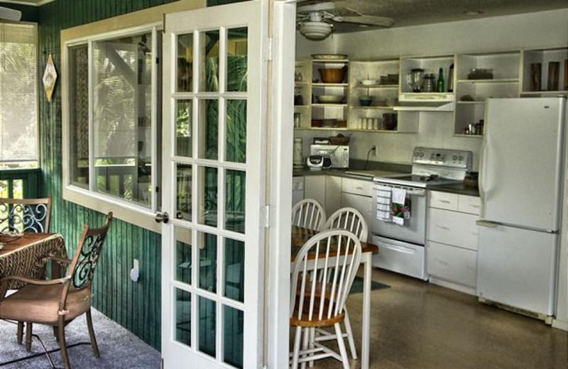 Vacation rental kitchen at Big Island Vacation Rentals.