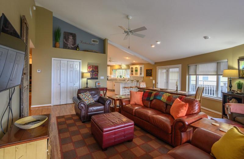 Rental living room at Sunset Properties.