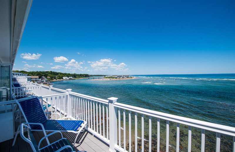 Balcony at The Sparhawk Oceanfront Resort.