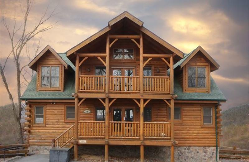 Cabin exterior at Eden Crest Vacation Rentals, Inc. - Rising Eagle Lodge.