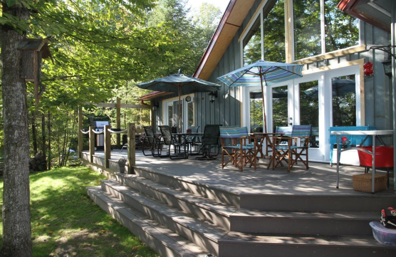 Cottage porch at All-Season Cottage Rentals.