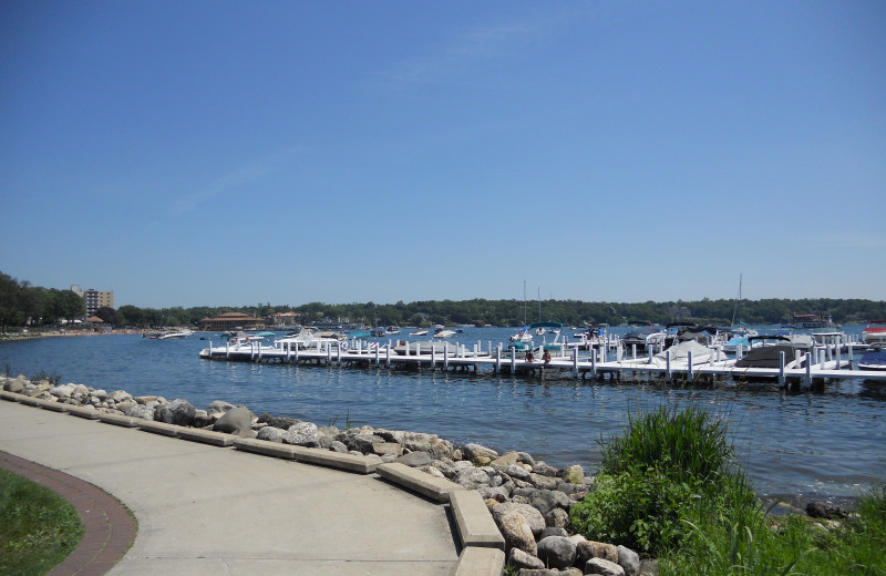 Marina near Harbor Shores on Lake Geneva.